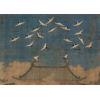 宋徽宗瑞鹤图 新中式客厅装饰画 书房挂画玄关卷轴挂画宣和裱书画