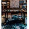 新中式书桌书法桌书画桌样板房书画桌禅意书房家具写字台别墅民宿