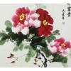 牡丹画纯手绘国画客厅装饰画挂画花开富贵洛阳画家批售斗方书画宣