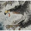书画国画作品客厅中式壁画办公室字画小丈二大展宏图花鸟画老鹰
