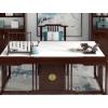 新中式实木岩板书桌大理石台面书法书画国学桌家用办公桌写字台案